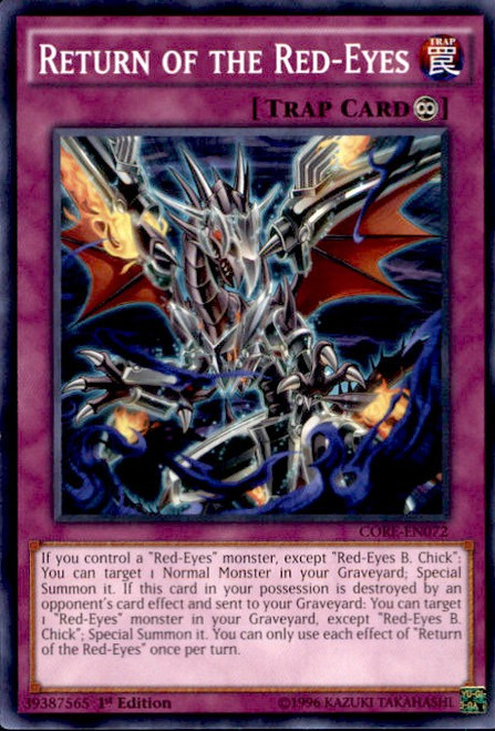 YuGiOh Clash of Rebellions Common Return of the Red-Eyes CORE-EN072