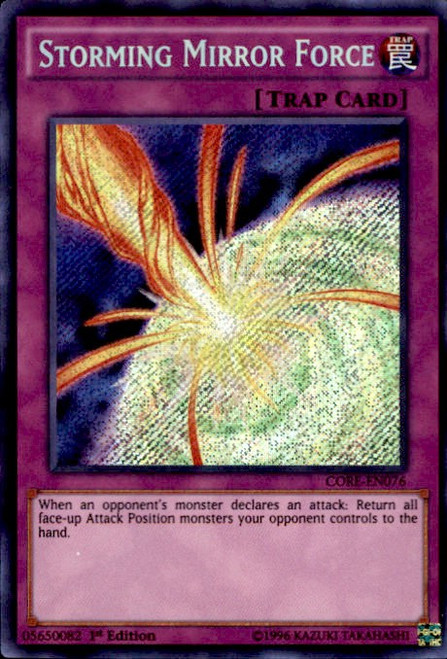 YuGiOh Clash of Rebellions Secret Rare Storming Mirror Force CORE-EN076