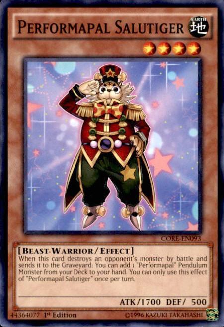 YuGiOh Clash of Rebellions Common Performapal Salutiger CORE-EN093