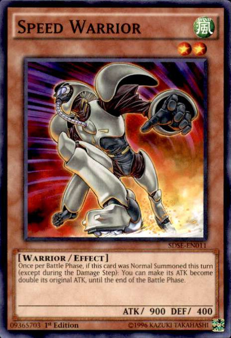 YuGiOh Synchron Extreme Structure Deck Common Speed Warrior SDSE-EN011