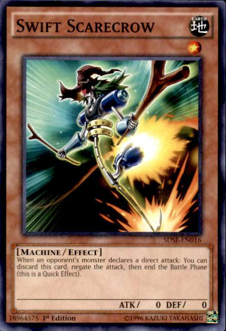 YuGiOh Synchron Extreme Structure Deck Common Swift Scarecrow SDSE-EN016