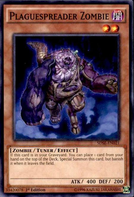 YuGiOh Synchron Extreme Structure Deck Common Plaguespreader Zombie SDSE-EN021