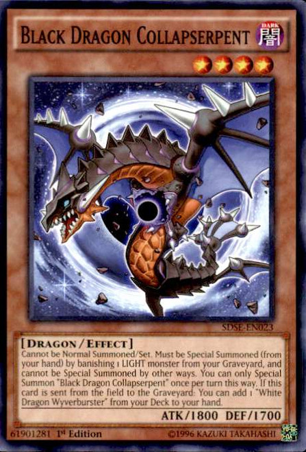 YuGiOh Synchron Extreme Structure Deck Common Black Dragon Collapserpent SDSE-EN023
