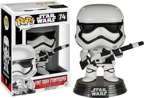 Funko The Force Awakens POP! Star Wars First Order Stormtrooper Exclusive Vinyl Bobble Head #74 [Heavy Artillery]
