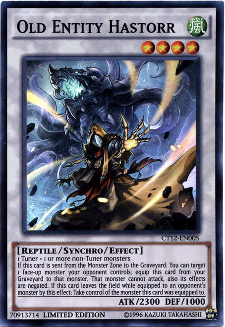 YuGiOh 2015 Mega Tin Super Rare Old Entity Hastorr CT12-EN005