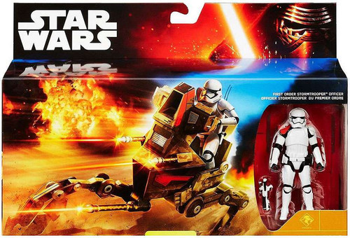 Star Wars The Force Awakens Desert Assault Walker with First Order Stormtrooper Officer Exclusive 3.75-Inch Vehicle