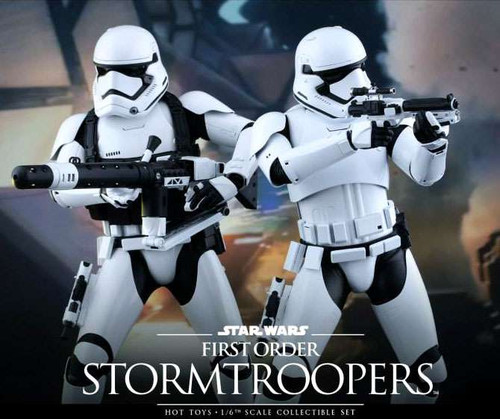 Star Wars The Force Awakens First Order Stormtrooper & Heavy Gunner Collectible Figures