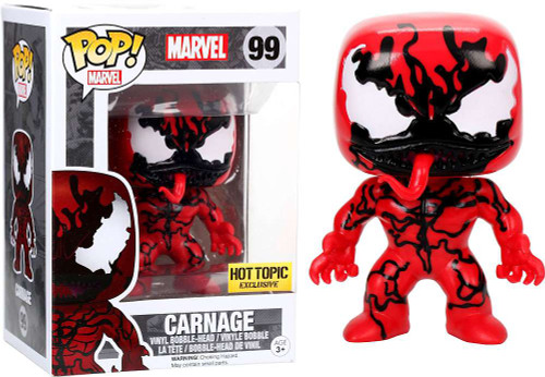 Funko Spider-Man POP! Marvel Carnage Exclusive Vinyl Bobble Head #99