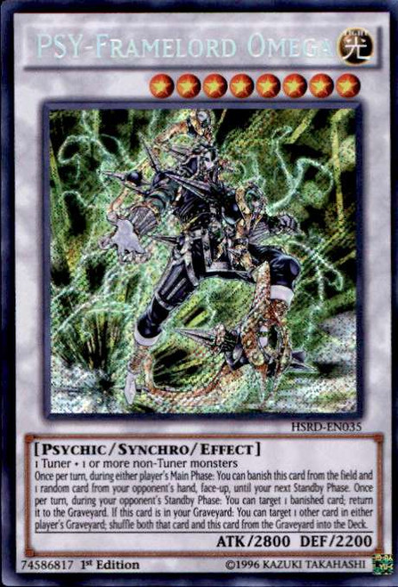 YuGiOh High-Speed Riders Secret Rare PSY-Framelord Omega HSRD-EN035