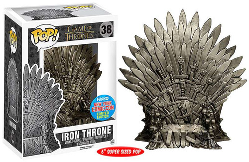 Funko Game of Thrones POP! TV Iron Throne Exclusive 6-Inch Vinyl Figure #38 [Super-Sized]