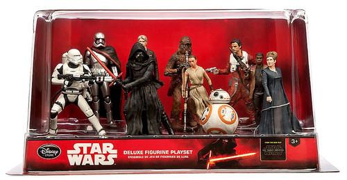 Disney Star Wars The Force Awakens 10-Piece PVC Figure Play Set [Solo, Leia, Dameron, Chewbacca, Flametrooper, Phasma, Ren, Rey, Finn & BB-8 ]