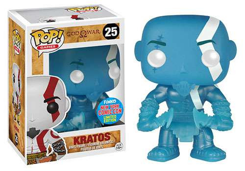 Funko God of War POP! Games Kratos Exclusive Vinyl Figure #25 [Blue, Glow-in-the-Dark]