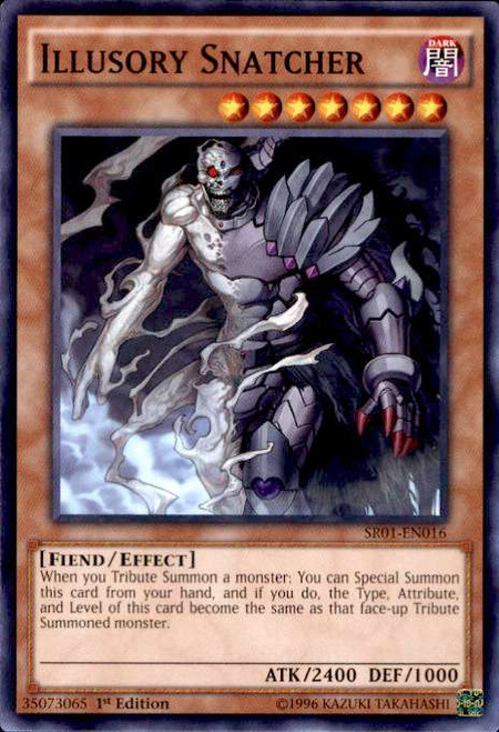 YuGiOh Emperor of Darkness Structure Deck Common Illusory Snatcher SR01-EN016