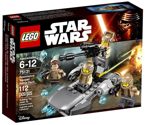 LEGO Star Wars The Force Awakens Resistance Trooper Battle Pack Set #75131