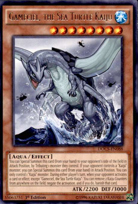 YuGiOh Dimension of Chaos Rare Gameciel, the Sea Turtle Kaiju DOCS-EN088