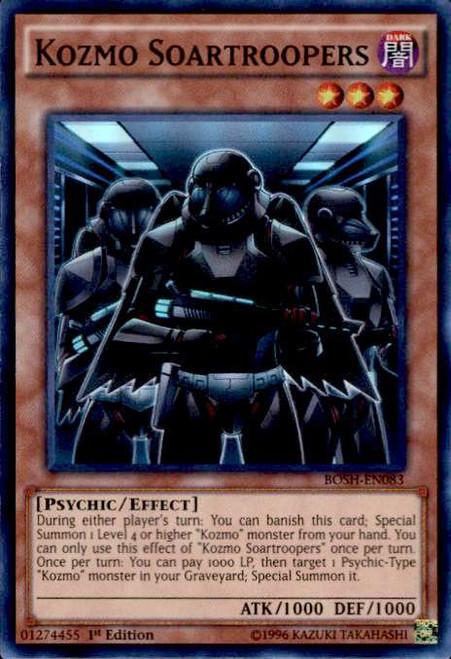 YuGiOh Breakers of Shadow Super Rare Kozmo Soartroopers BOSH-EN083