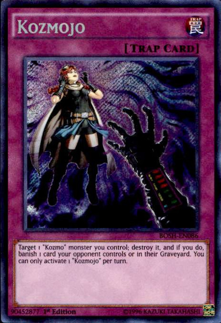 YuGiOh Breakers of Shadow Secret Rare Kozmojo BOSH-EN086
