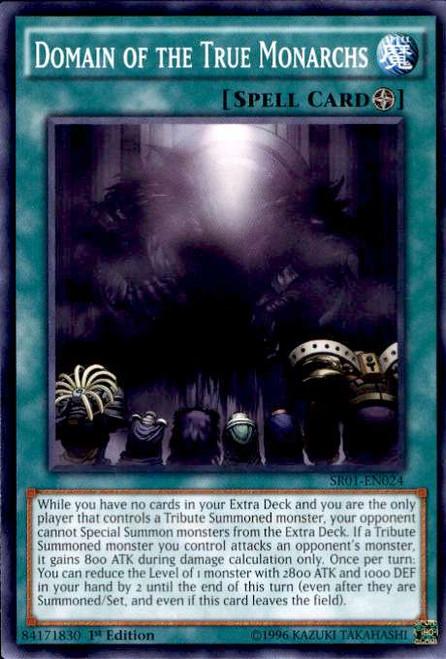 YuGiOh Emperor of Darkness Structure Deck Common Domain of the True Monarchs SR01-EN024