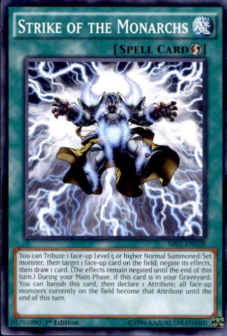 YuGiOh Emperor of Darkness Structure Deck Common Strike of the Monarchs SR01-EN028