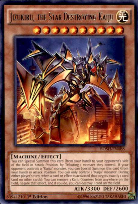 YuGiOh Breakers of Shadow Rare Jizukiru, the Star Destroying Kaiju BOSH-EN088