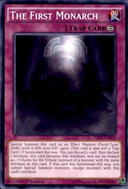YuGiOh Emperor of Darkness Structure Deck Common The First Monarch SR01-EN035