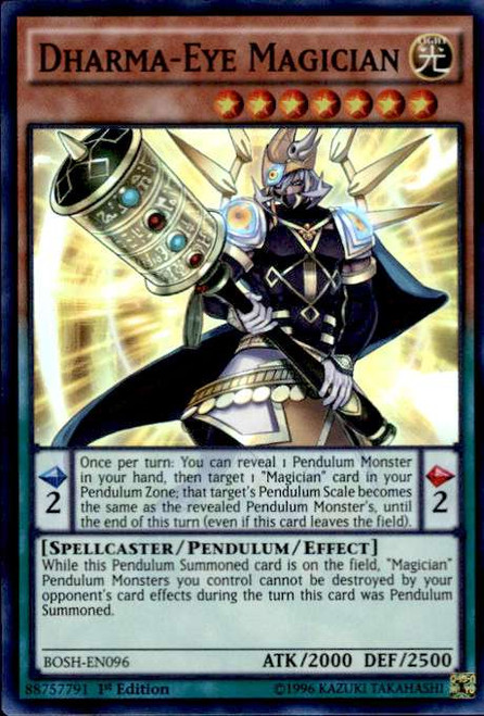 YuGiOh Breakers of Shadow Super Rare Dharma-Eye Magician BOSH-EN096