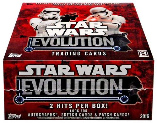 Star Wars Topps 2016 Evolution Trading Card HOBBY Box [24 Packs]
