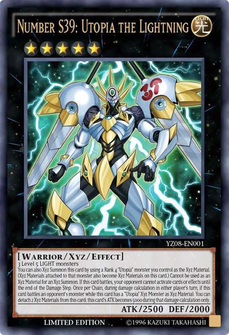 YuGiOh Shonen Jump Ultra Rare Number S39: Utopia the Lightning YZ08-EN001