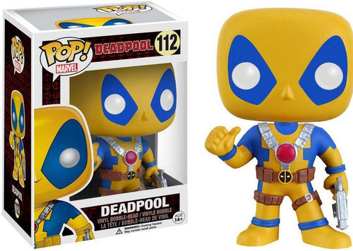Funko POP! Marvel Deadpool Exclusive Vinyl Bobble Head [Yellow & Blue]