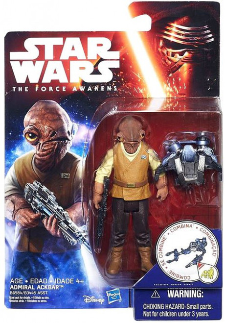 Star Wars The Force Awakens Jungle & Space Admiral Ackbar Action Figure