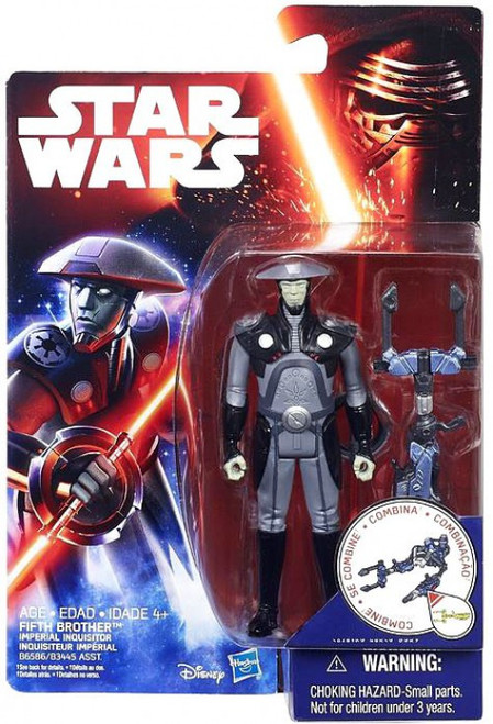 Star Wars Rebels Jungle & Space Fifth Brother Action Figure [Imperial Inquisitor]