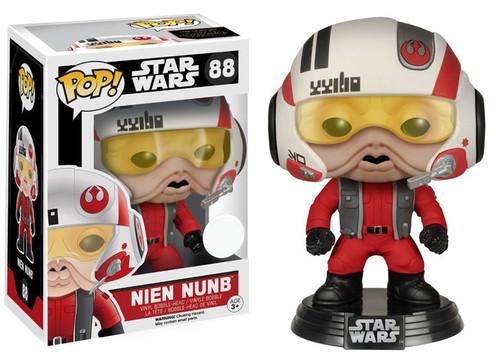 Funko The Force Awakens POP! Star Wars Nien Nunb Exclusive Vinyl Bobble Head #88 [Helmet]