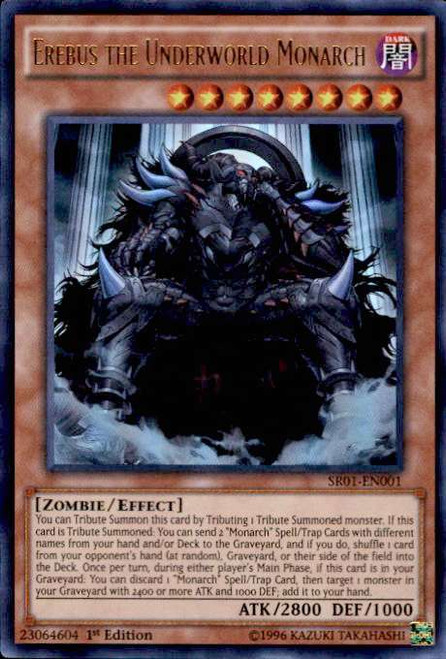 YuGiOh Emperor of Darkness Structure Deck Ultra Rare Erebus the Underworld Monarch SR01-EN001
