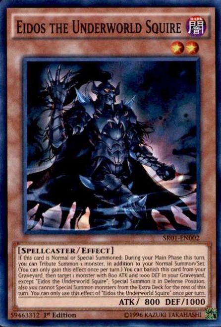 YuGiOh Emperor of Darkness Structure Deck Super Rare Eidos the Underworld Squire SR01-EN002
