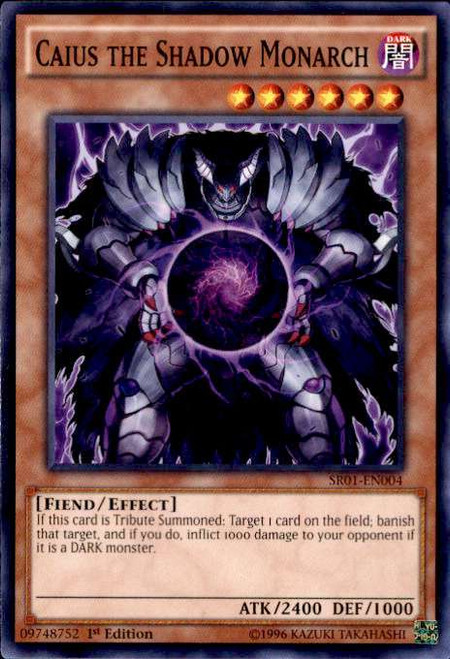 YuGiOh Emperor of Darkness Structure Deck Common Caius the Shadow Monarch SR01-EN004
