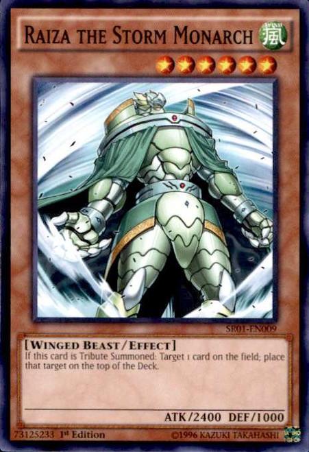 YuGiOh Emperor of Darkness Structure Deck Common Raiza the Storm Monarch SR01-EN009