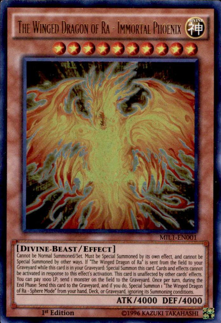 YuGiOh Millennium Pack Ultra Rare The Winged Dragon of Ra - Immortal Phoenix MIL1-EN001