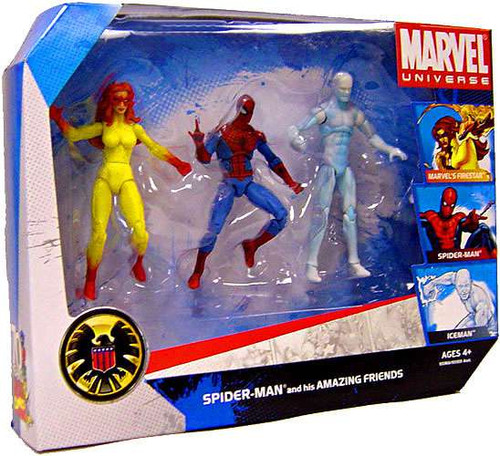 Marvel Universe Spider-Man & His Amazing Friends Exclusive Action Figure Set