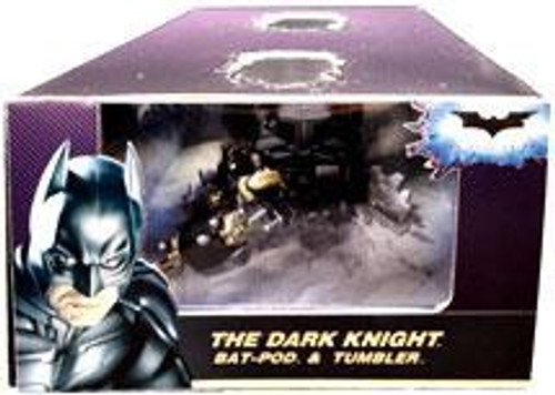 Batman The Dark Knight Bat-Pod & Tumbler Exclusive Diecast Vehicle 2-Pack