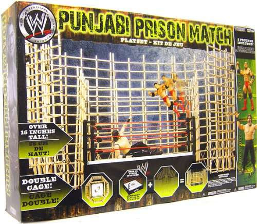 WWE Wrestling Playsets Punjabi Prison Match Action Figure Playset