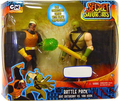 The Secret Saturdays Doc Saturday vs. Van Rook Exclusive Action Figure 2-Pack