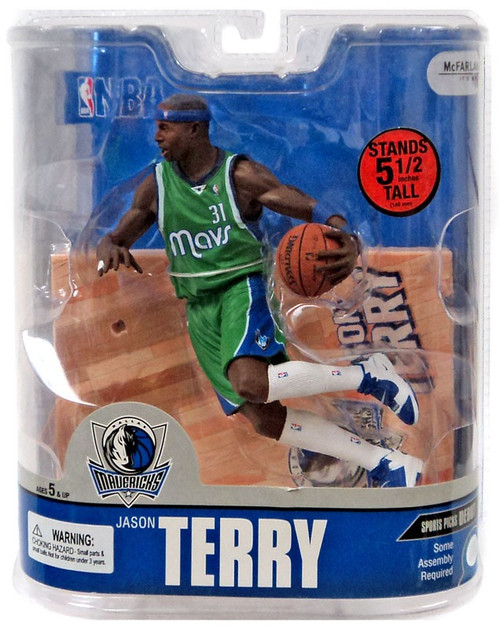 McFarlane Toys NBA Dallas Mavericks Sports Picks Series 13 Jason Terry Action Figure [Green Jersey Variant]
