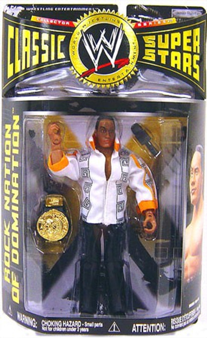 WWE Wrestling Classic Superstars Series 17 The Rock Action Figure [Nation of Domination]
