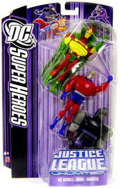 DC Justice League Unlimited Super Heroes Mr. Miracle, Orion & Darkseid Action Figures [Purple Card]