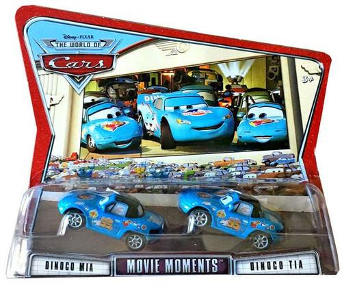 Disney / Pixar Cars The World of Cars Movie Moments Dinoco Mia & Tia Diecast Car 2-Pack
