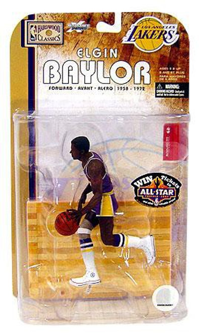 McFarlane Toys NBA Los Angeles Lakers Sports Picks Legends Series 4 Elgin Baylor Action Figure