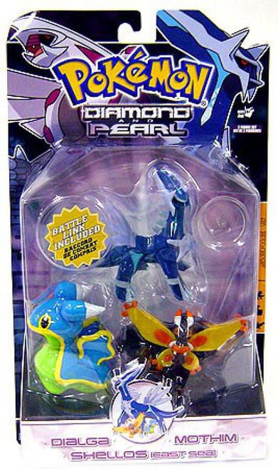 Pokemon Diamond & Pearl Series 5 Dialga, Shellos East & Mothim Figure 3-Pack