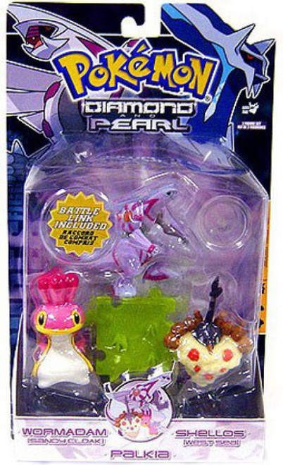 Pokemon Diamond & Pearl Series 5 Palkia, Shellos West & Wormadam [Sandy Cloak] Figure 3-Pack