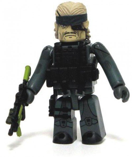 Metal Gear Solid 20th Anniversary Kubrick Solid Snake Minifigure [Guns of the Patriots]