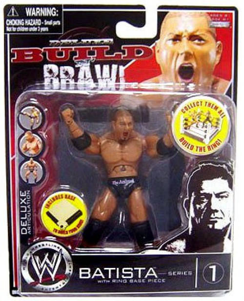 WWE Wrestling Build N' Brawl Series 1 Batista Action Figure